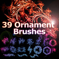 39 Floral Ornament Brushes