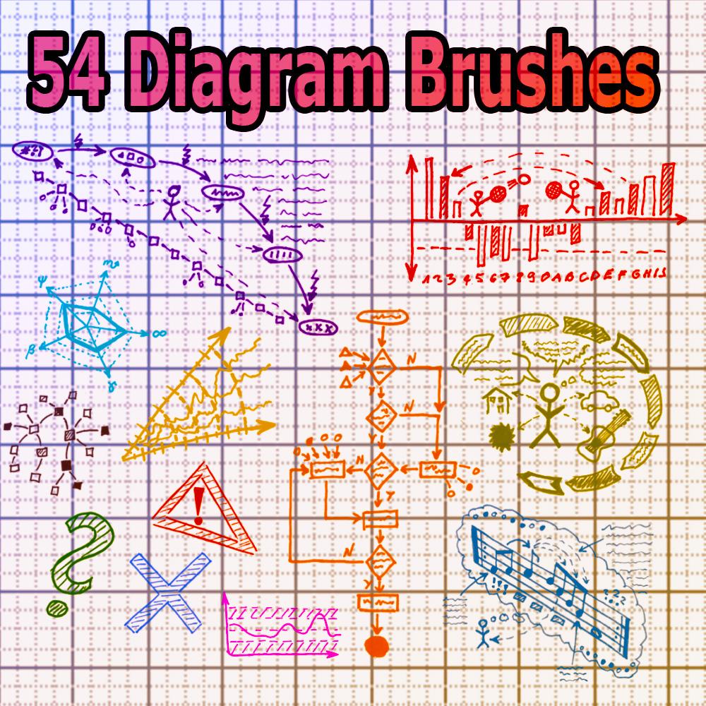 54 Diagram Brushes by XResch