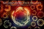 52 Complex Hi-Tech Sci-Fi Circle Brushes by XResch