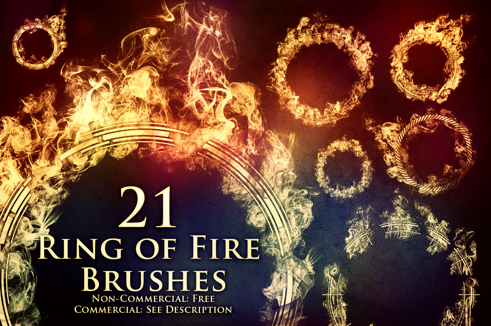 21 Ring of Fire Brushes by XResch