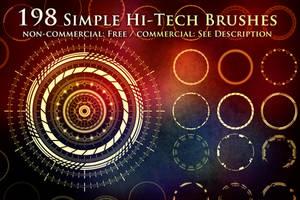 198 Simple Hi-Tech Sci-Fi Circle Brushes by XResch