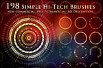198 Simple Hi-Tech Sci-Fi Circle Brushes