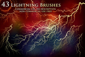 43 Lightning and Electricity Brushes by XResch