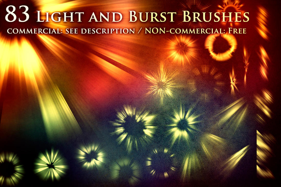 83 Light and Burst Brushes by XResch