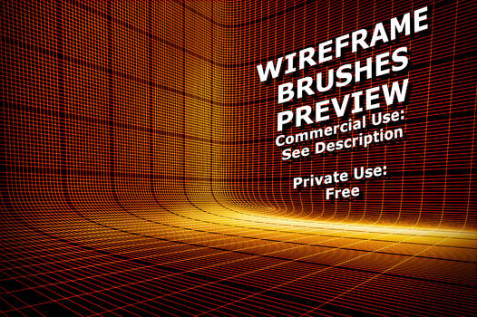 3D Wireframe Brushes Preview