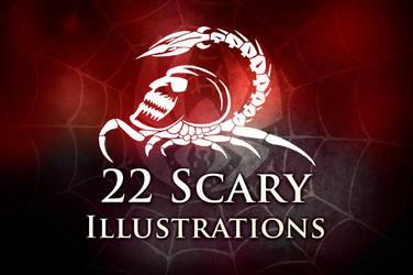 22 Scary Illustration Brushes