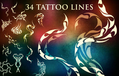 34 Tattoo Line Brushes