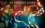 34 Tattoo Line Brushes by XResch
