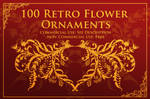 100 Retro Flower Ornament Brushes by XResch