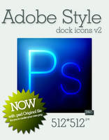 Adobe Style dock icons v2 by jQuan