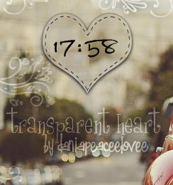 Skin For Rainmeter:transparent heart by DaniaPeaceeLovee