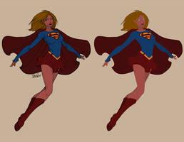 Supergirl Lineart 2013 - Flats by Mr-Frisky
