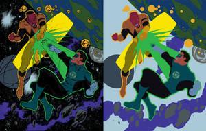 GL vs Sinestro - Flats by Mr-Frisky