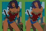 Wonder Woman by Fendiin - Flats by Mr-Frisky