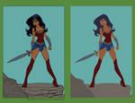 Wonder Woman  by DiegoLlorente - Flats by Mr-Frisky