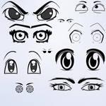 Anime Eyes Photoshop Brushes 1