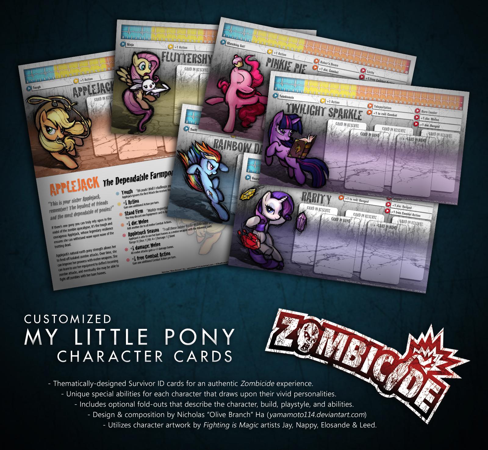 ZOMBICIDE custom My Little Pony survivors by OliveBranchMLP