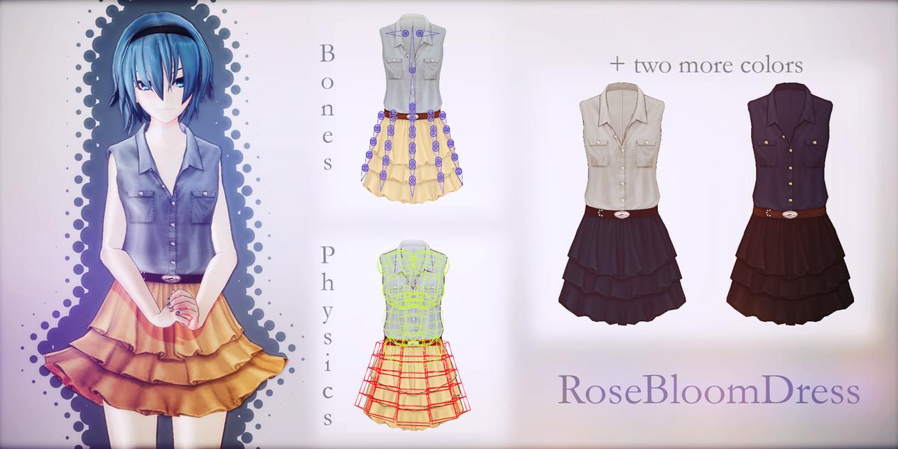 RoseBloomDress -DOWNLOAD- by LizzyVolti