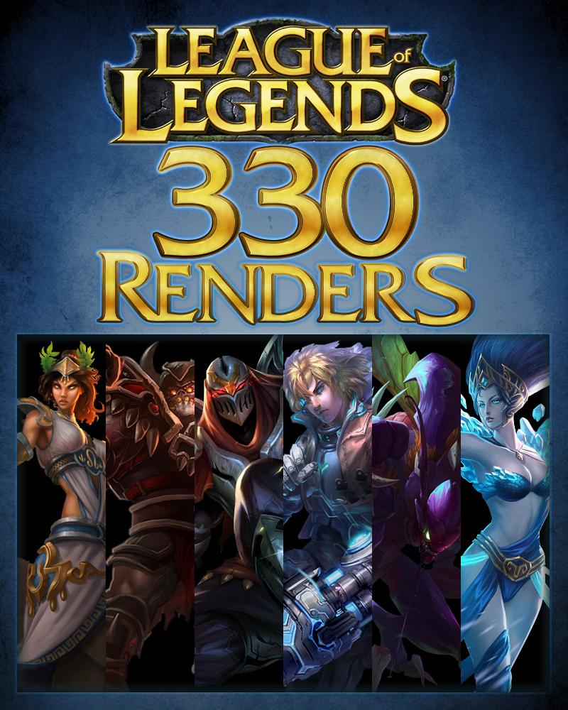 League of Legends Renders Pack by krazekay