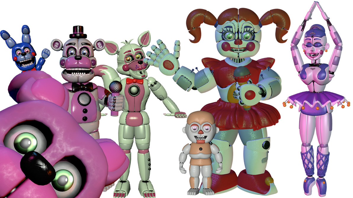 fnaf sister location texture pack