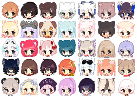 |Commission| Huge Icon Batch by HoshiAi