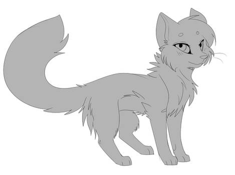 [Free] Fluffy Cat Lineart!
