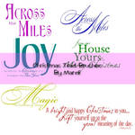 Christmas Text Brushes Pack 1