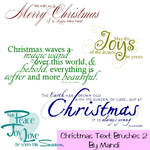 Christmas Word Brushes Pack 2