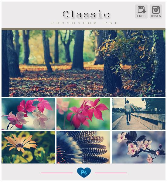 Instagram Classic - Photoshop PSD