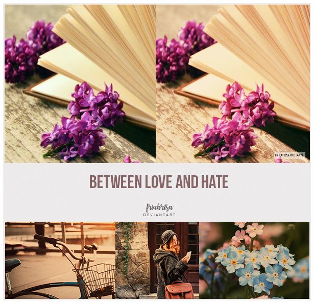 Between Love n hate - Photoshop Action