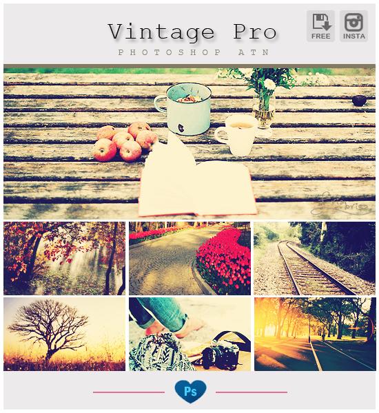 Instagram Vintage Pro - Photoshop ATN