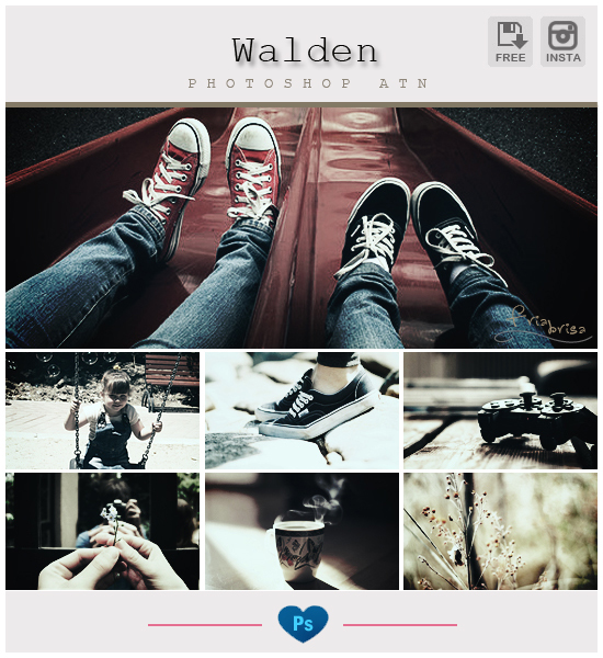 Instagram Walden Photoshop Action by friabrisa