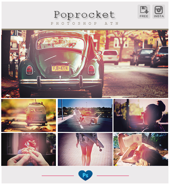 Instagram Poprocket - Photoshop Action by friabrisa