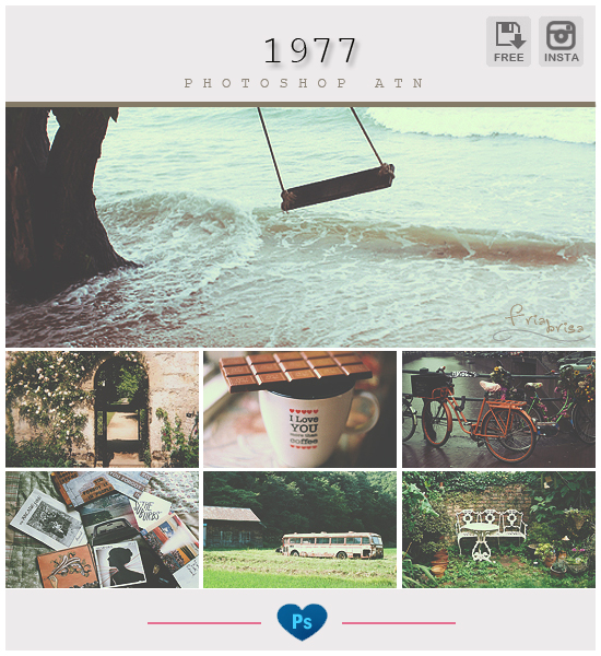 Instagram 1977 - Photoshop ATN