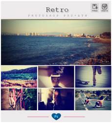 Retro Instagram Photoshop PSD+ATN by friabrisa