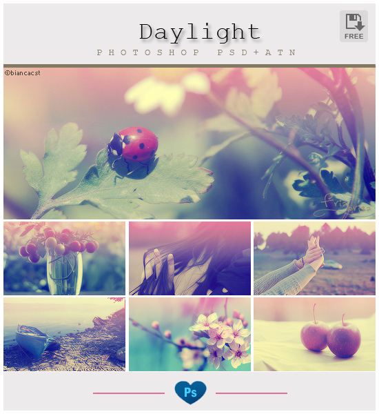 Daylight Photoshop PSD + ATN