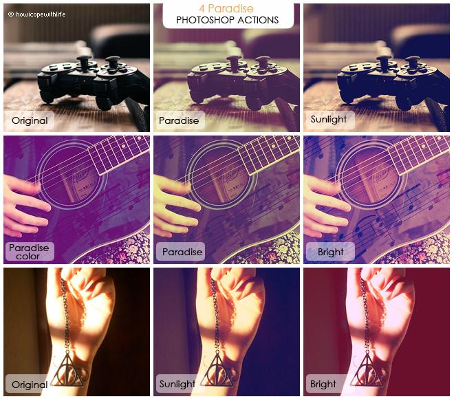 Paradise Photoshop Actions  (FREE)
