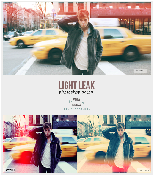 Light Leak - Photoshop Actions (free)