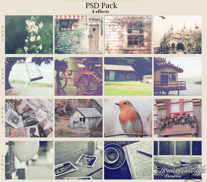 PSD Pack - 4 Effects (FREE)