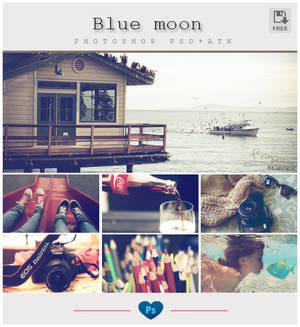 Blue moon - Photoshop PSD + ATN