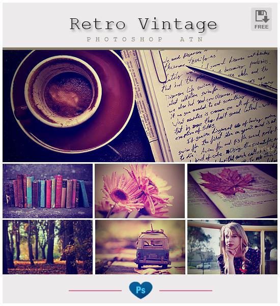 Retro Vintage - Photoshop Action by friabrisa