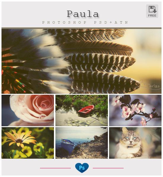 Paula - Photoshop Effect (PSD+ATN) by friabrisa