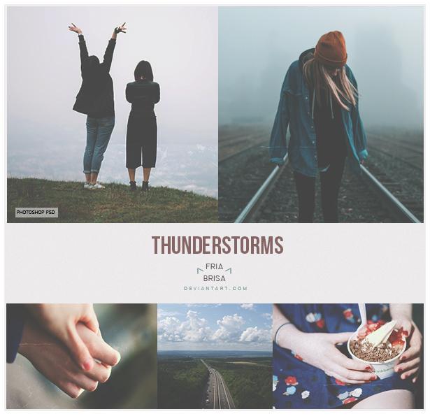 Thunderstorms - Photoshop PSD