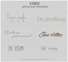 6 fonts