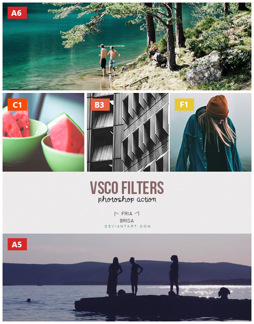 VSCO 5 Filters - Photoshop Action (ATN) by friabrisa on DeviantArt