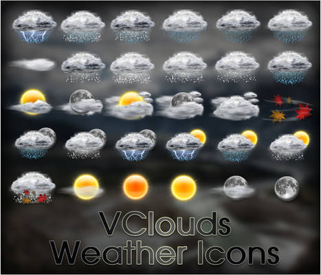 VClouds Weather Icons