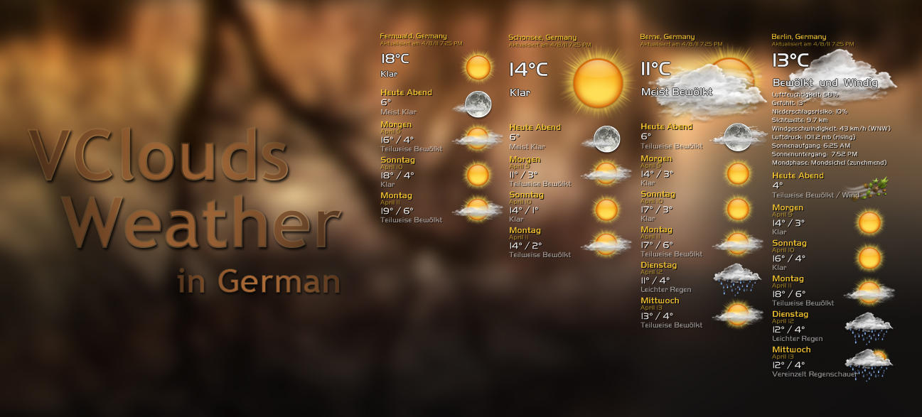VClouds Weather German by VClouds
