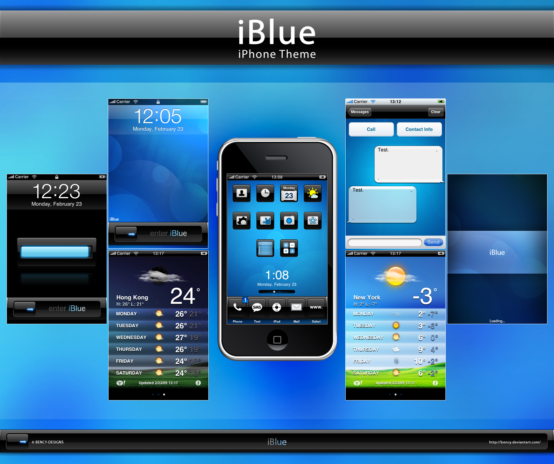 iBlue.theme for iPhone by Benjamin-Dandic