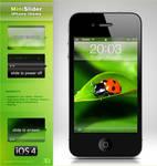 MiniSlider iPhone 4 theme
