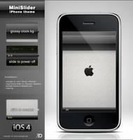 MiniSlider Black iPhone theme by Benjamin-Dandic